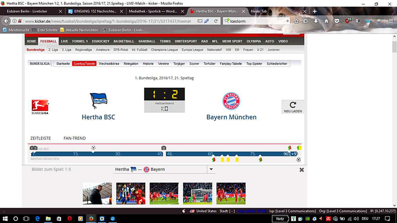 Hertha BSC hatte die Bayern fast geschafft