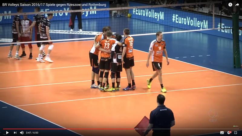 BR Volleys Saison 2016/17 Spiele gegen Rzeszow und Rottenburg
