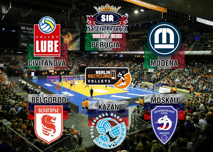 Volleyball Champions-League Playoffs im Überblick