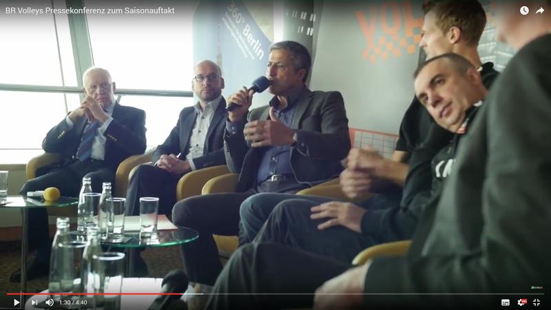 BR Volleys Pressekonferenz zum Saisonauftakt