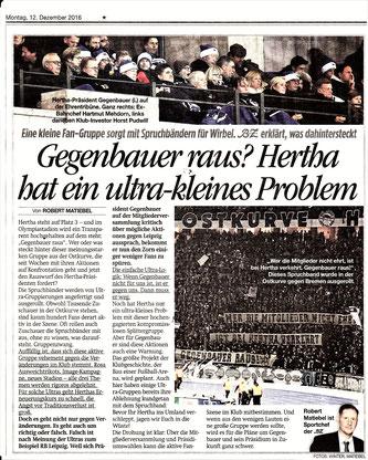 Hat Hertha ein Ultraproblem?