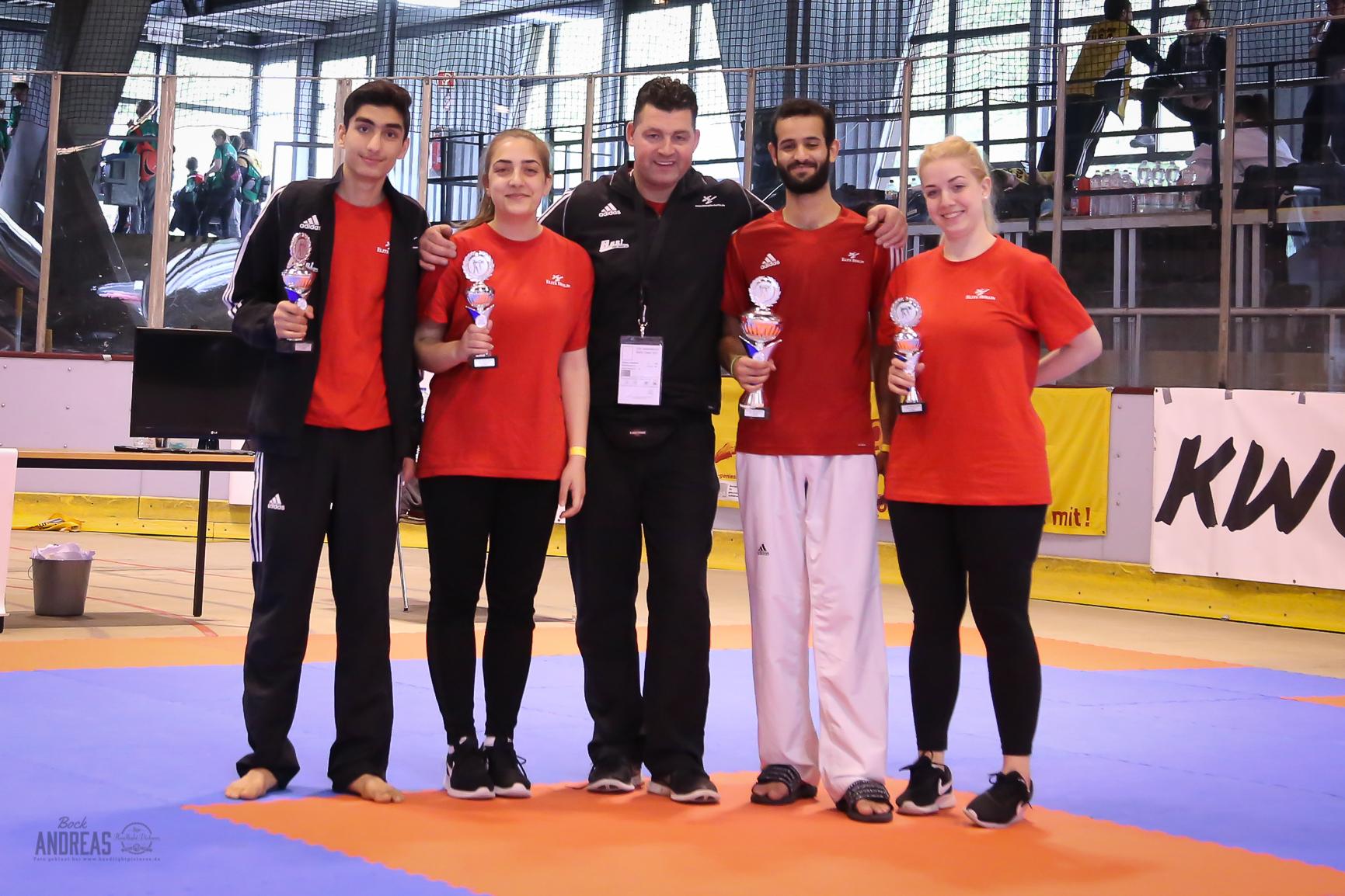 Taekwondo Elite Berlin gewinnt den 2. Platz in der Mannschaftswertung bei der Berlin Open 2017