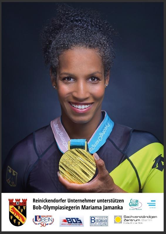Reinickendorf gratuliert Zweierbob-Olympiasiegerin Mariama Jamanka zum Triumph im Gesamt-Weltcup
