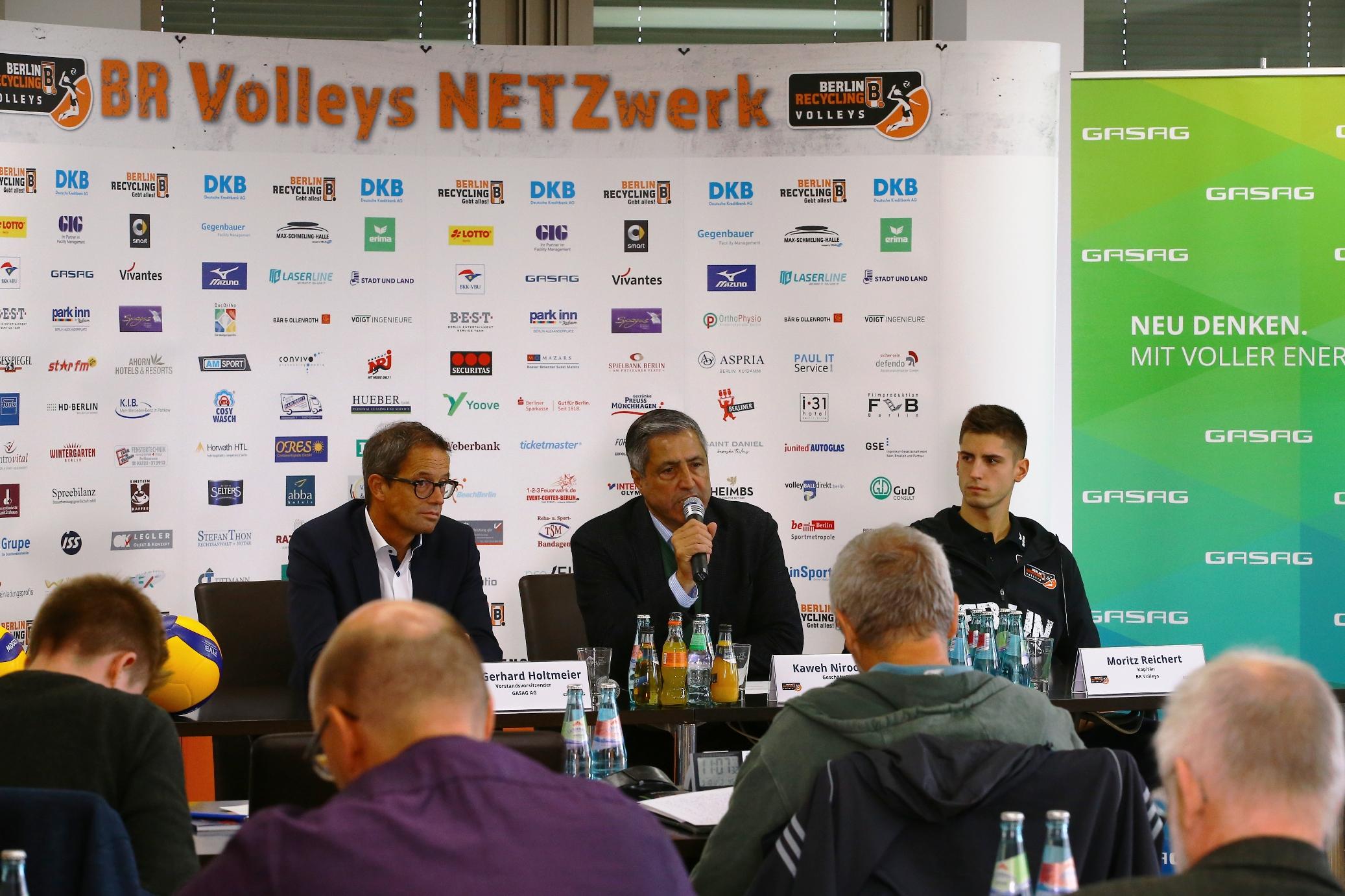 """BR Volleys – Saisonauftakt Pressekonferenz """"Ein guter Start wird wichtig sein"""""""
