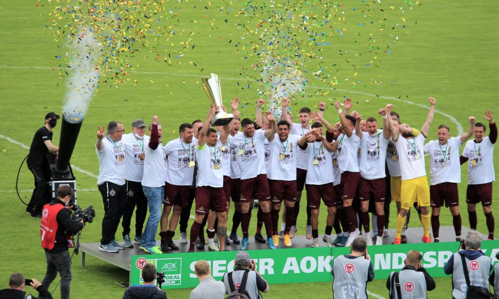 Der BFC Dynamo gewinnt das Pokalfinale