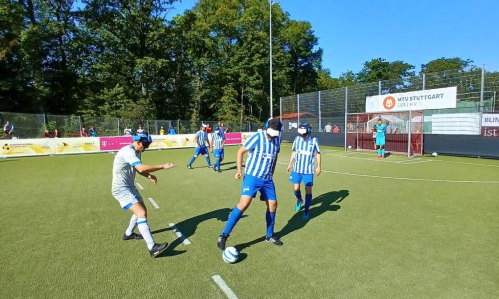 Herthas Blindenfußballer feiern ersten Saisonpunkt